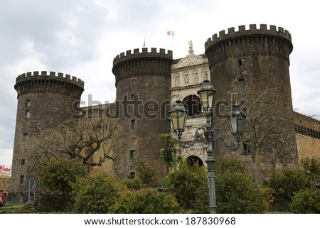 Naples - the biggest city of the Southern Italy - stock photo