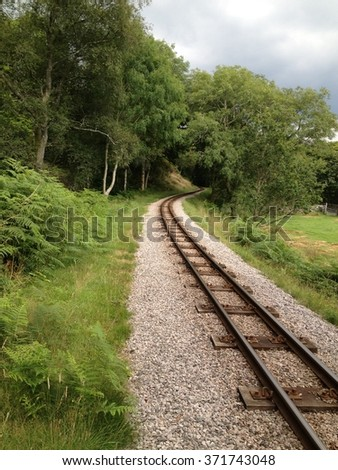 Narrow Gauge Railway - stock photo