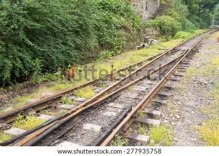 narrow gauge railway,China's Sichuan province. - stock photo