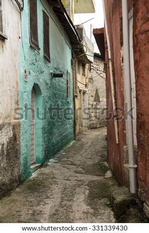 narrow old street