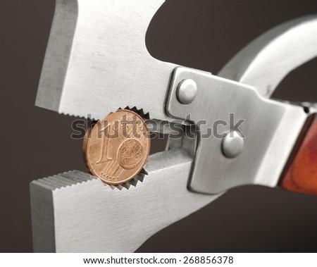narrow the euro - stock photo