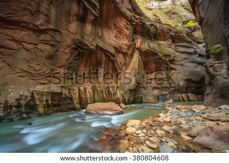 Narrows, Zion National Park, USA - stock photo
