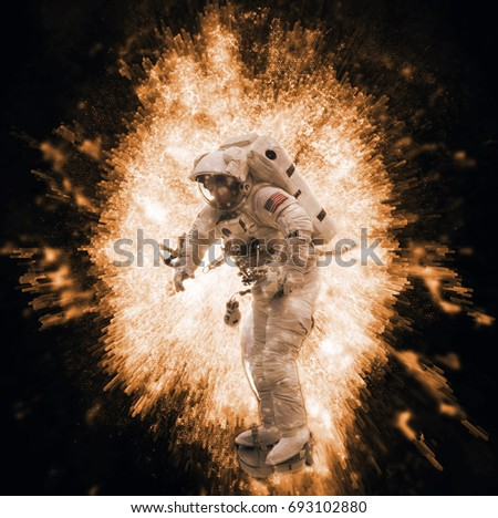 NASA Space Exploration Astronaut & Time Travel Portal Special 3D Illustration Effect (Elements of this image furnished by NASA)