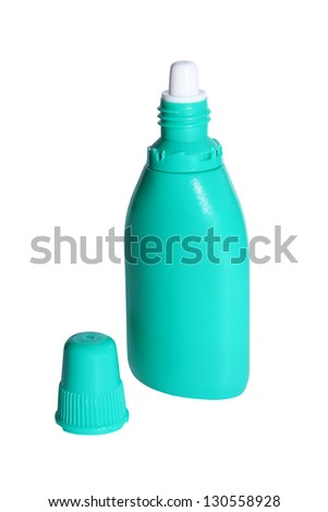 Nasal spray on the white background - stock photo