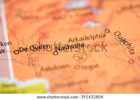 Nashville. Arkansas. USA - stock photo