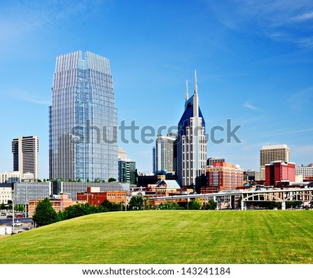 Nashville, Tennessee cityscape in the day. - stock photo