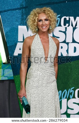 NASHVILLE, TN-JUN 10: Singer Kimberly Schlapman of Little Big Town attends the 2015 CMT Music Awards at the Bridgestone Arena on June 10, 2015 in Nashville, Tennessee. - stock photo