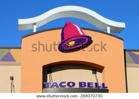 NASHVILLE, TN-JUNE, 2015:  Exterior of a new Taco Bell.  Taco Bell is an international fast food chain with over 6500 locations. - stock photo