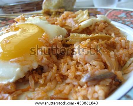 nasi goreng fried rice - stock photo
