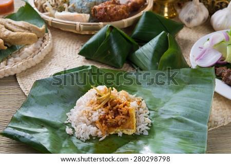 nasi lemak  - stock photo