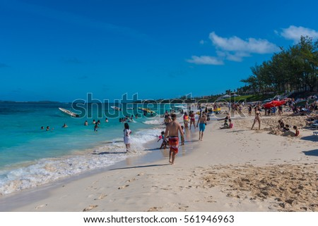 Nassau Bahamas December People Relaxing Stock Photo - Bahamas in december