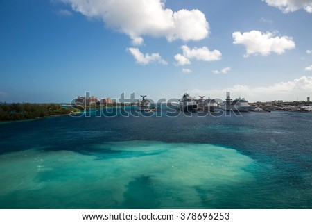 Nassau, Bahamas - December 29, 2015: View of Paradise Island in Nassau, Bahamas.