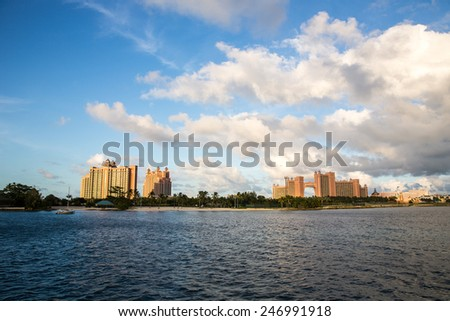 Nassau, Bahamas - November 12: View of Atlantis Resort and Residences in Nassau, Bahamas on November 12, 2014.