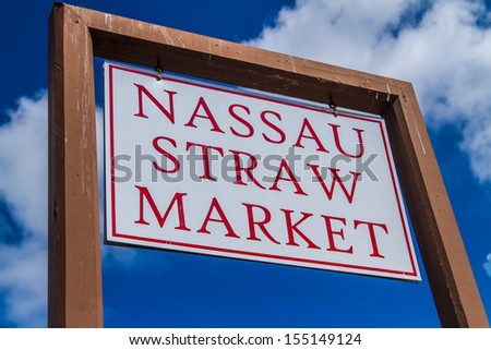 Nassau Straw Market in Nassau, Bahamas - stock photo