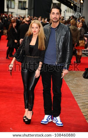 "Natalie Joel and Hugo Taylor arriving for the premiere of ""The Dictator"" at the Royal Festival Hall, South Bank , London. 10/05/2012 Picture by: Steve Vas / Featureflash - stock photo"