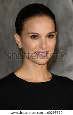 """Natalie Portman arrives for the world premiere of """"Thor: The Dark World"""" at the Odeon Leicester Square, London. 22/10/2013 - stock photo"""