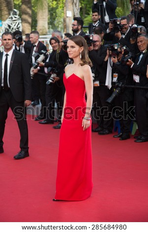 Natalie Portman attend the opening ceremony and premiere of La Tete Haute ( Standing Tall ) during the 68th annual Cannes Film Festival on May 13, 2015 in Cannes, France. - stock photo