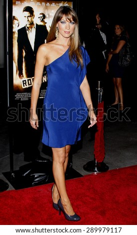 Natalie Zea at the Los Angeles premiere of 'RocknRolla' held at the ArcLight Cinemas in Hollywood on October 6, 2008.