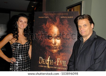 Natasha Blasick and Damian Chapa at the Los Angeles Premiere of 'Death of Evil', Benefitting the National Fathers Resource Center. Regency Fairfax Cinemas, West Hollywood, CA. 10-01-09