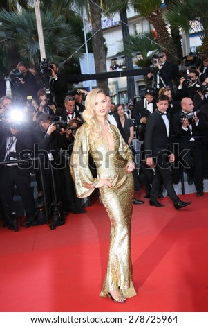 Natasha Poly attend the premiere of 'The Sea Of Trees' during the 68th annual Cannes Film Festival on May 16, 2015 in Cannes, France. - stock photo