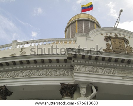 National Assembly Capitolio Congress politics Deputies Downtown Caracas Venezuela