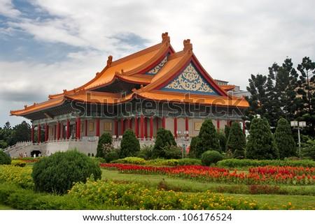 National Concert Hall in Taipei, Taiwan. - stock photo