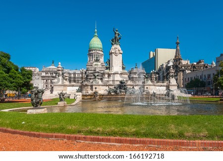 National Congress building, Buenos Aires, Argentina - stock photo