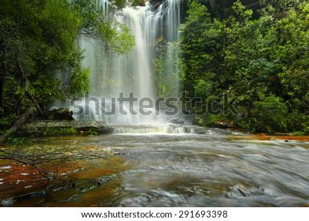 National Falls, Royal National Park, Australia - stock photo
