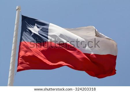 National flag chile - stock photo