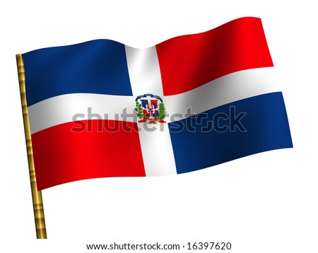 National Flag. Dominican Republic