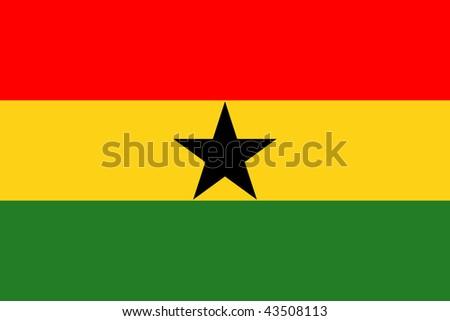 National Flag Ghana - stock photo