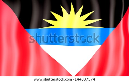 National flag of Antigua - stock photo