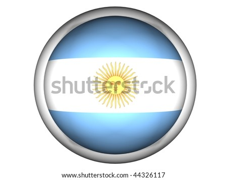National Flag of Argentina | Button Style |