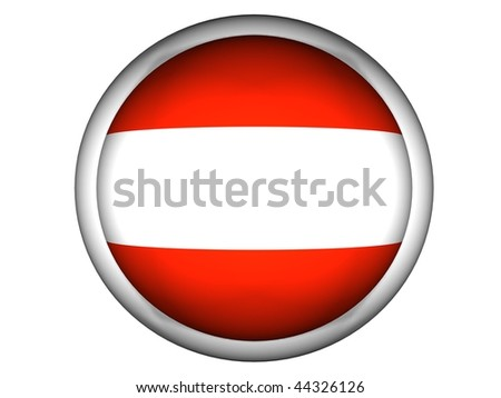 National Flag of Austria | Button Style |