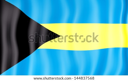 National flag of Bahamas - stock photo