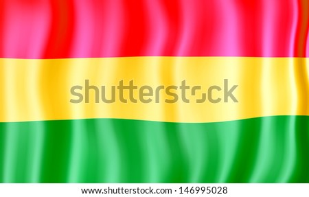 National flag of Bolivia - stock photo