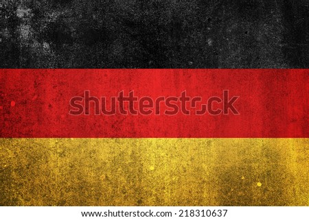 National flag of Germany. Grungy effect.