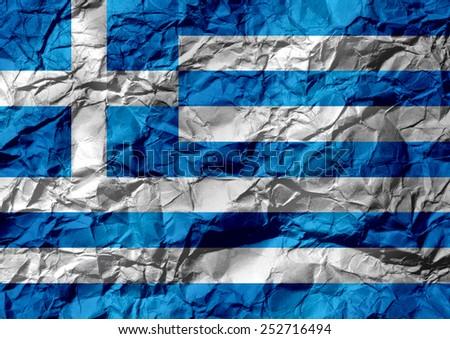 National flag of Greece themes idea design - stock photo