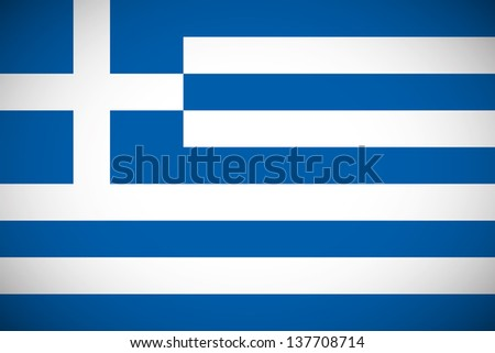National flag of Greece with correct proportions and color scheme (raster illustration) - stock photo