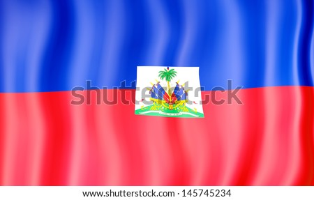 National flag of Haiti - stock photo