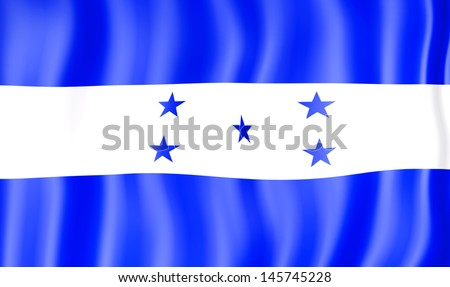 National flag of Honduras - stock photo