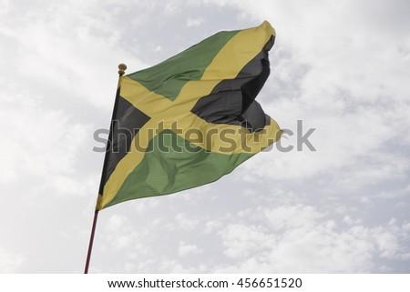 National Flag of Jamaica - stock photo