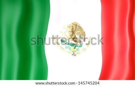 National flag of Mexico - stock photo