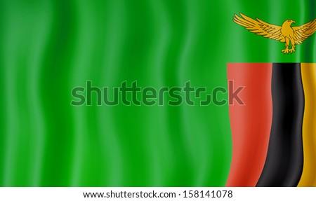 National Flag of Zambia - stock photo