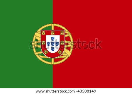 National Flag Portugal - stock photo