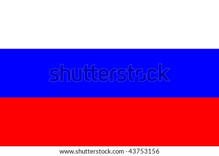 National Flag Russia - stock photo
