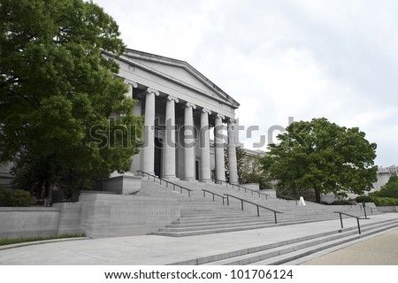 National Gallery of Art at Washington DC - stock photo
