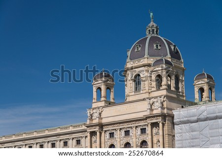 National history museum in Vienna - stock photo