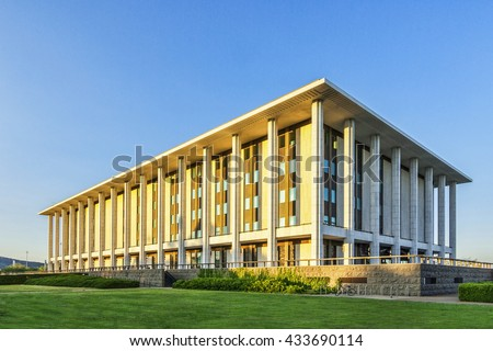 National Library of Australia, Canberra, Australia. It is the largest reference library in Australia and contains over 10 million items.