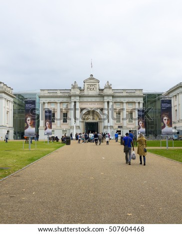 National Maritime Museum in London Greenwich - LONDON / ENGLAND - SEPTEMBER 23, 2016